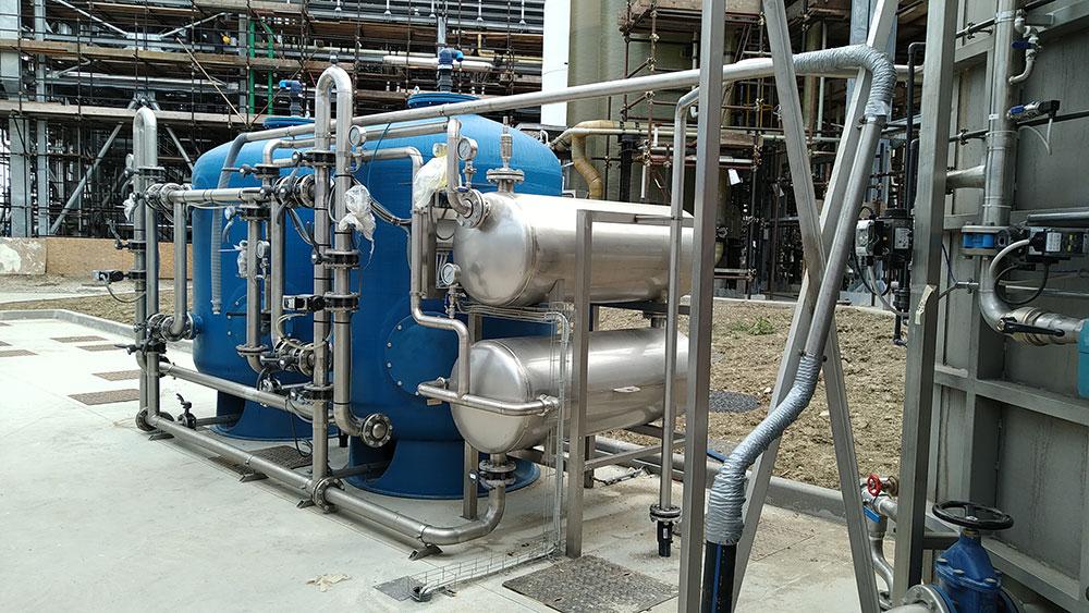 Impianto depurazione acque industrie farmaceutiche e della cosmesi